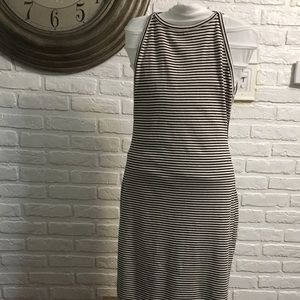 Silence & Noise backless midi striped dress